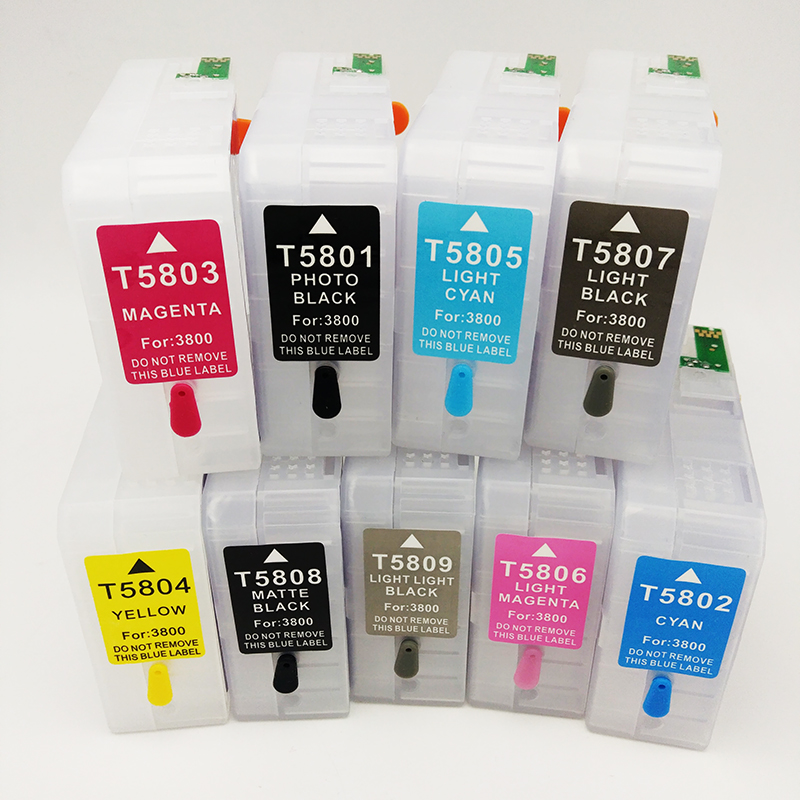 T5801 T5802 T5803 T5804 T5805 T5806 T5807 T5808 T5809 For Epson Stylus Pro 3800 3880 Empty Refillable Ink Cartridge in Ink Cartridges from Computer Office