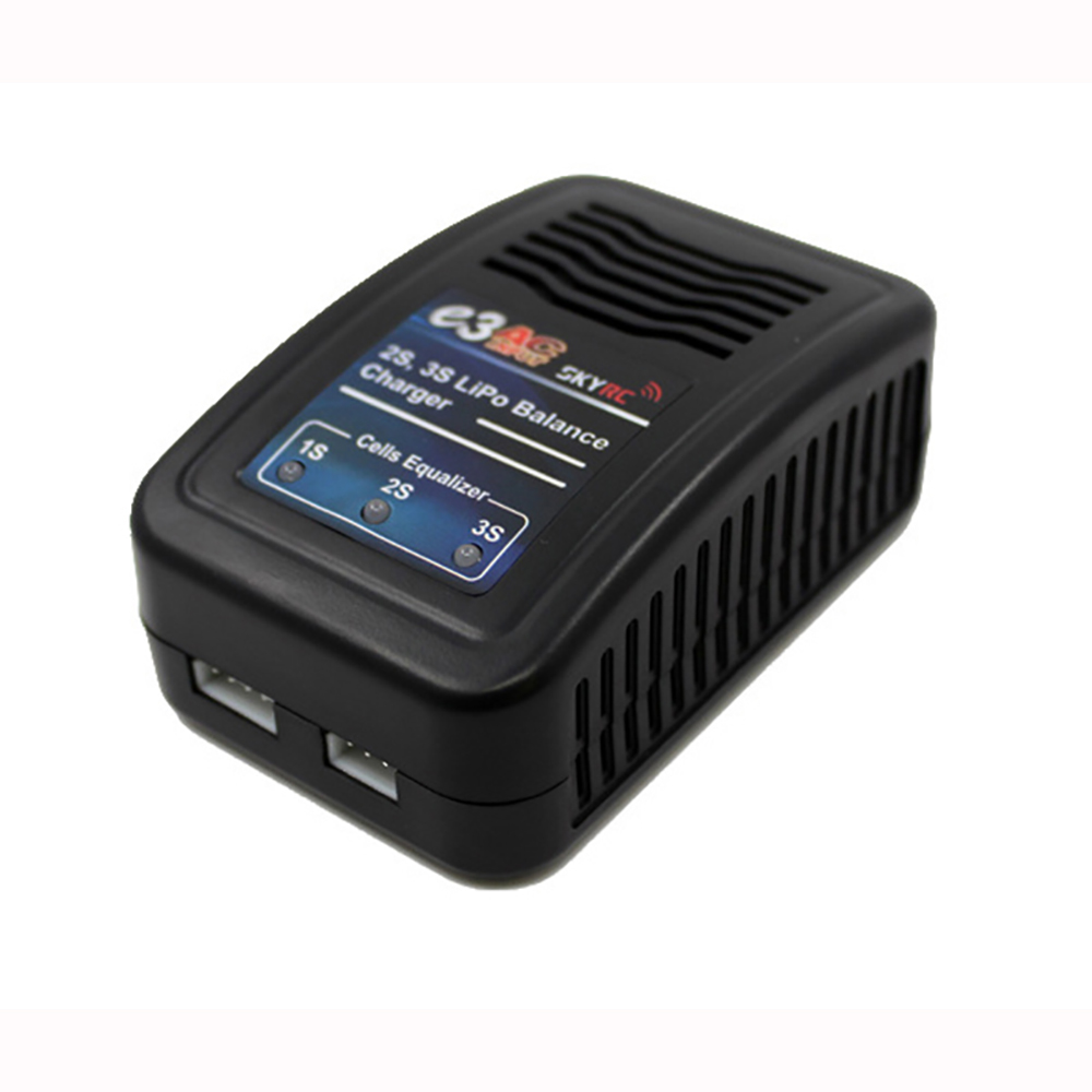 SKYRC SK-100081 E3 AC Input 2S 3S Lipo Battery Balance Charger For RC Batterys E3 2S 3S Balance Charger US/EU plug skyrc sk 800084 01 b6 mini 6a 60w dc11 18v professional balance charger discharger w t 2 6lcd