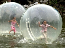ball that grows in water,inflatable water walk ball,colorful soft plastic tent water pool ocean wave