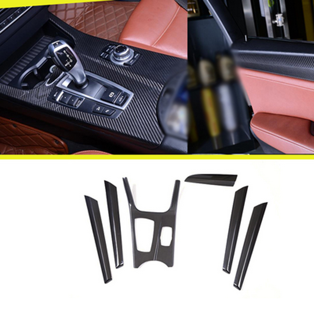 Carbon Fiber Interior Dashboard Decoration Trim For BMW