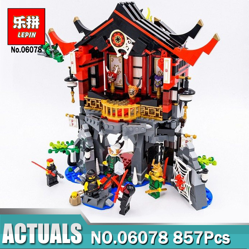 Lepin Ninjagoing 06078 Temple Of Resurrection Building Blocks Toys For Children Figures Compatible Legoing Ninjagoings 70643 Kid марк бойков 泰坦尼克之复活 возвращение титаника resurrection of titanic
