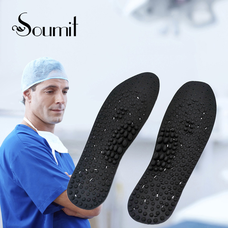 Soumit Silicone Gel Massage Health Care Insoles for Men Women Promote Blood Circulation Shoes Insole Soles Shoe Suction Foot Pad