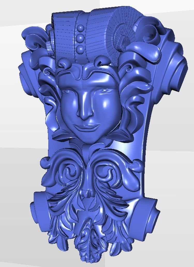 Decor_11 3d  model relief  for cnc  in STL file format martyrs faith hope and love and their mother sophia 3d model relief figure stl format religion for cnc in stl file format