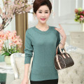 M-4XL Solid Sweater Women Autumn New Long Sleeved Knit O Neck Sweaters Plus Size Thin Pullover Loose Pull Femme Casual J442