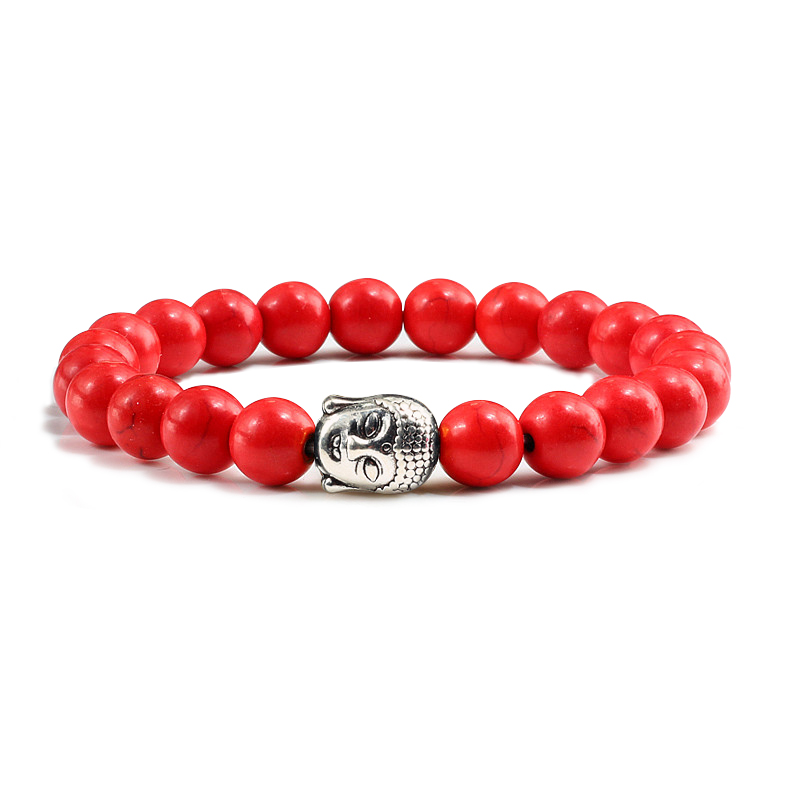 Classic Sliver Plated Buddha Beads Bracelets&Bangles Charm Men Black Natural Volcanic Stone Strand Bracelet Women Prayer Jewelry 2
