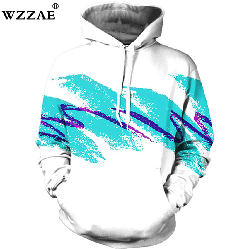 2018 Neue Design Aquarell Digitaldruck Männer/frauen Hoodies Drucken Waves 3d Mit Kapuze Sweatshirts Herbst Winter Mode Hoody Tops