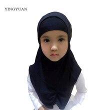 LJ7 Children New style Folds two piece Fashion Muslim hijab headband pashmina