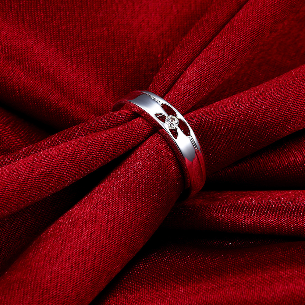 Rings For Women Stainless Steel Silver Plated lekani SPCR244 Fashion popular ring