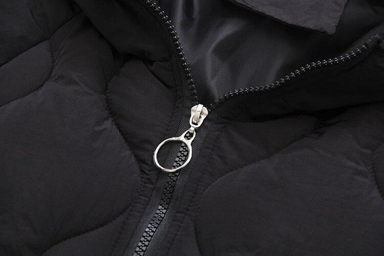 Fourrure D'hiver Chaud La Rembourré Taille Casual Mode Lâche Capuchon T4 Vêtements Épais De Femmes Manteaux Plus Parkas 8815 5xl Noir À Col OxTUwd