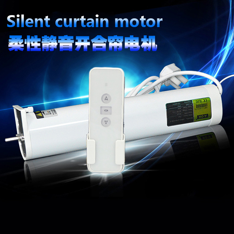 Silent Electric curtain blinds 5 0m 7 0m size customized 90 135 degree acceptable App and