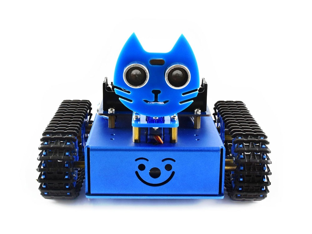Waveshare KitiBot starter tracked robot building kit smart car with controller BBC micro:bit for learning programming alphabot2 robot building kit for micro bit with controller bbc micro bit