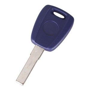 Image 2 - Keyyou 10x concha para chave fiat sip22, concha em branco azul para fiat 500 ducato transponder chave sem corte
