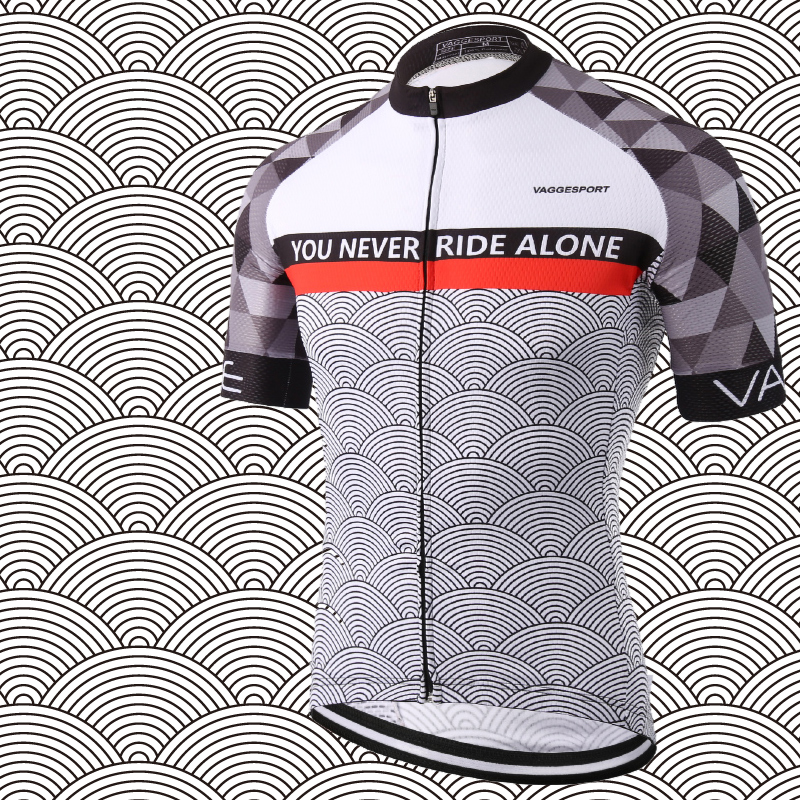 2019 Profesjonelle menn Road Race Sykling Jersey Reflekterende menn Grey Sykkelskjorter SBS Full Hidden Zipper Mountain Bike Jersey