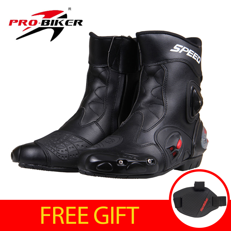 PRO-BIKER SPEED BIKERS Motorcycle Racing Boots Motorcycle Riding Boots Men Motocross Off-Road Motorbike Boots Moto Shoes A004 шарф finn flare finn flare mp002xb003jr