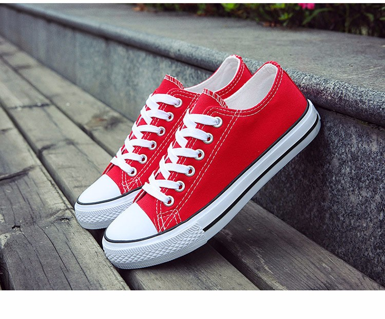 Hellozebra Men Casual Canvas Shoes Classical Lace Up Solid Flats Breathable Board Soft Leather Students Shoes 2016 Autumn New  (18)