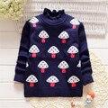 2016 детская одежда свитер фабрики сразу Корейский стиль мультфильм шаблон девушки зима хлопок Свитер С Высоким Воротом Рубашки для детей