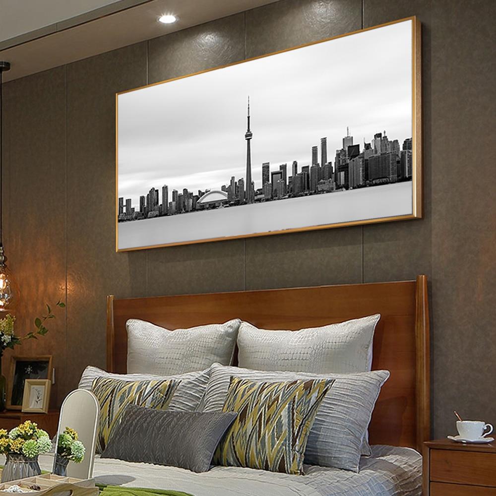 Black White Toronto Skyline Vintage Posters Prints Realist
