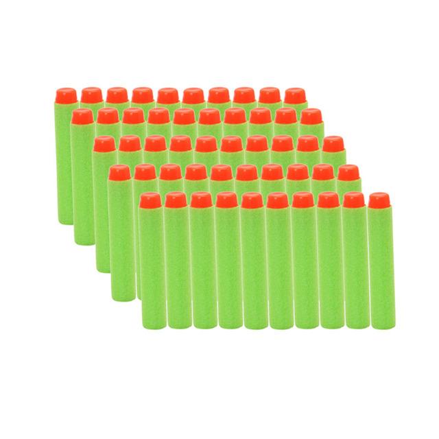 M89C50Pcs Toy Gun Refill Green Bullet Darts For Nerf N-strike Series Blaster 7.2cm