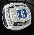 Free shipping 2015 Duke Blue Devils national championship ring, 2015 popular fashion sports fans wholesale Wedding Ring solid