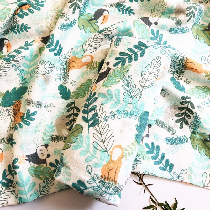 New Prints Baby Swaddle Wraps Bamboo Cotton Baby muslin Blankets Baby Stroller Cover