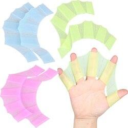 Силиконовые ручные плавники, ласты для плавания, перчатки для плавания на пальцах, лопастные перчатки, весло S M L, весло для улучшения устойч...