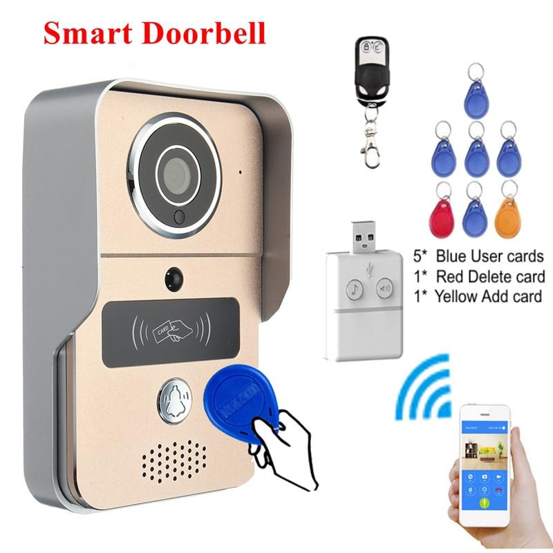 Kinco аудио видео WI FI Дверные звонки безопасный Умный дом подключения сетевого WI FI Дистанционное управление P2P тревоги саботажа ночной вид для