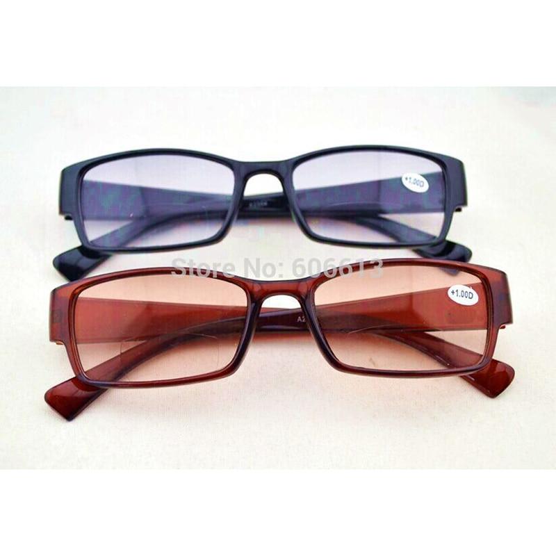 6eb68919ad Negro bifocales gafas de lectura marrón nuevo color de la lente visión sol  lector gafas de lectura gafas lupa gafas A1