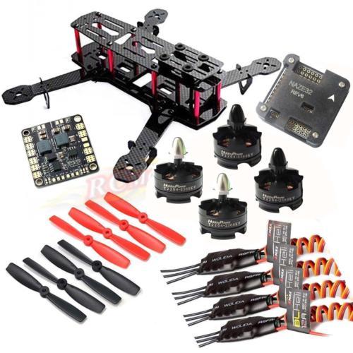 DIY QAV250 ZMR250 Quadcopter Hobbypower HP T2204 2300KV Motor EMAX BLHeli 12A ESC NAZE32 6DOF FC qav250 carbon quadcopter mt2204 2300kv motor simonk 12a esc cc3d fc 5045 props