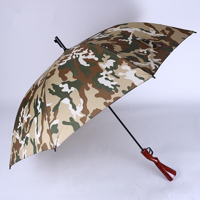 Jeu de plein air parapluie personnalité créative 98 k parapluie Camouflage long manche parapluie mâle Imitation fusil poignée parapluie
