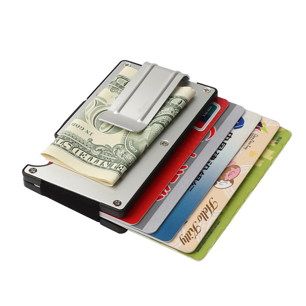 Maison Fabre Money Clip Metallic Credit ID Bag With RFID Men Anti-chief Wallet Women Solid Fashion Mini Bags F28