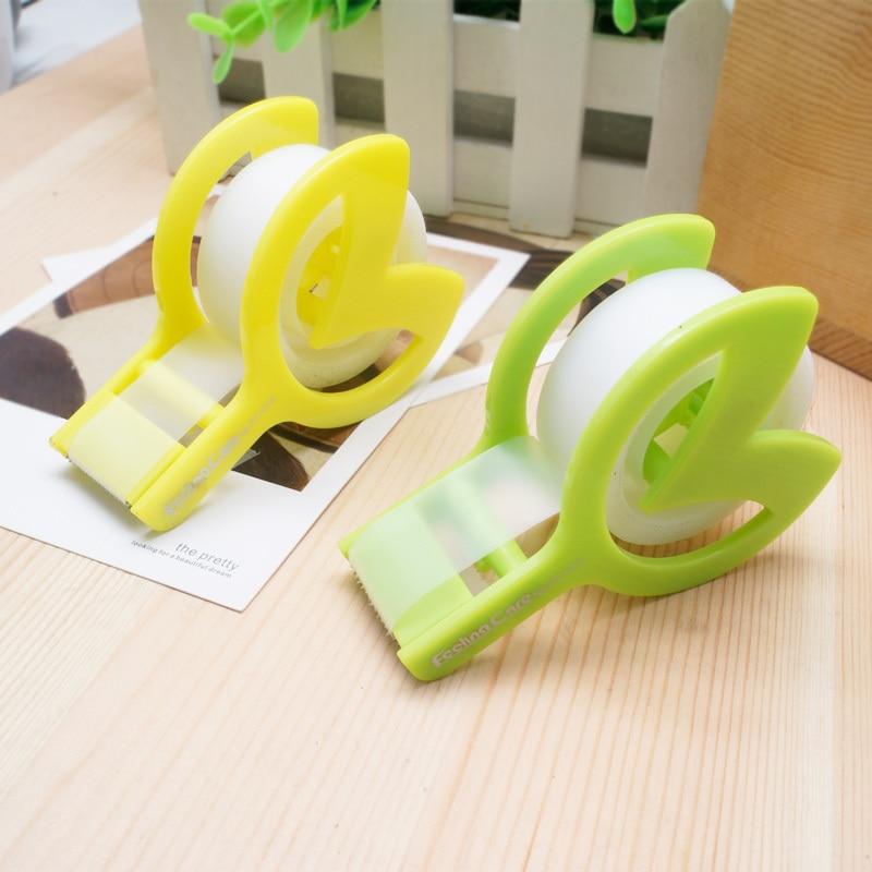 Office supply tape dispenser cute plastic tape cutter
