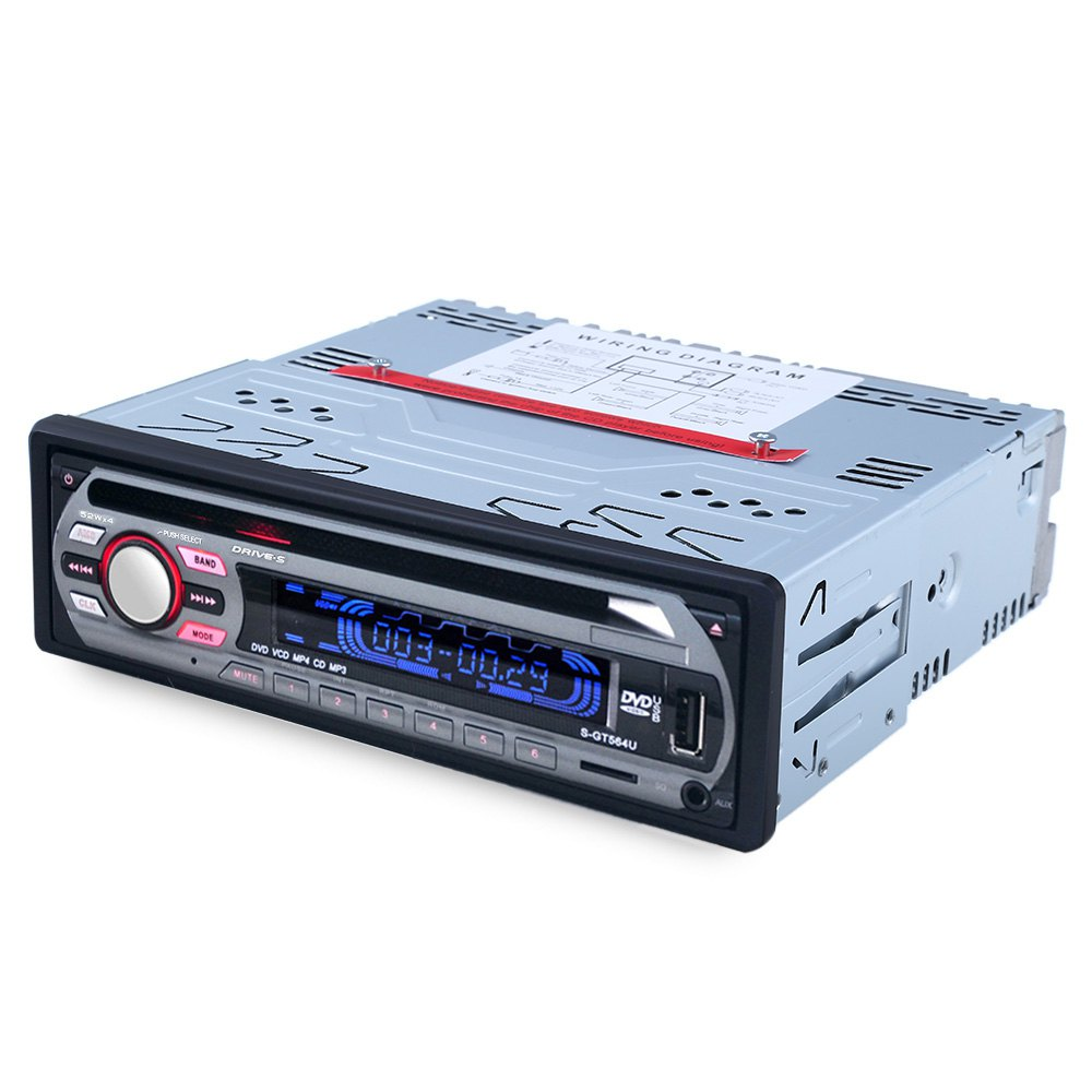 Car Stereo FM Radio MP3 Audio Player Support FM USB SD DVD Mp3 Player AUX Mic with Remote Control radio In-Dash1 DIN A key Mute
