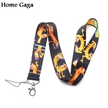 Homegaga catdog cartoon lanyards neck straps for phones keys bag cameras id card holders keychain webbing D1772