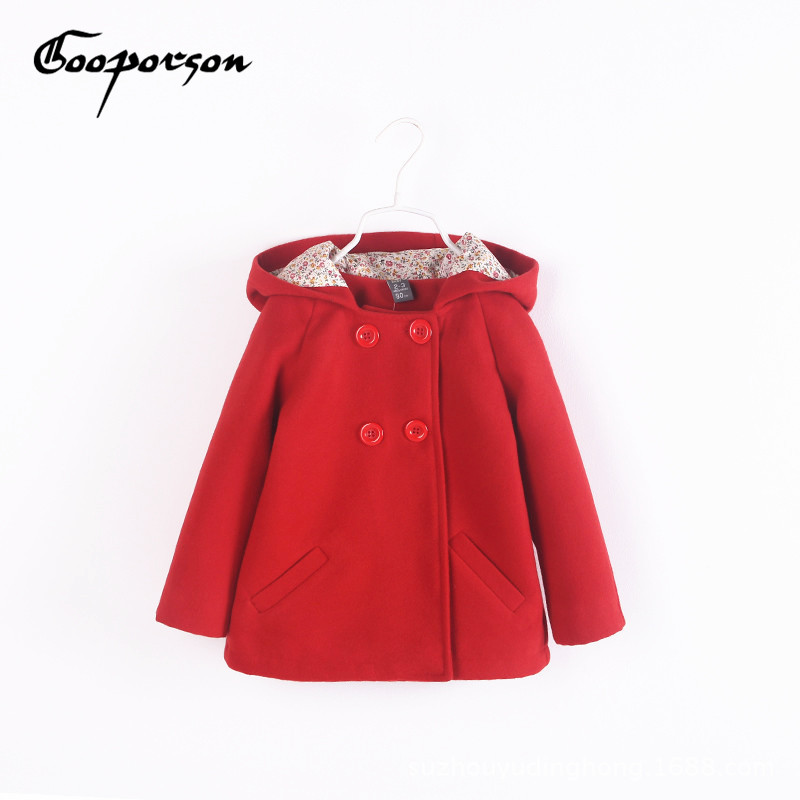 GOOPORSON 2017 Autumn Fashion Girls Jacket Coat Children Outerwear Clothing Full Sleeve Solid Color Kids Hooded Coat Tops цены