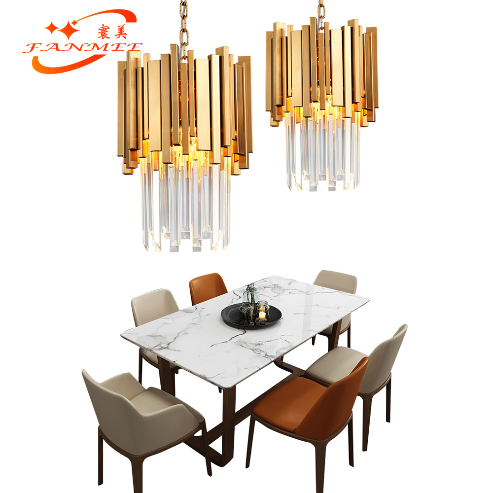 Modern Crystal Chandelier Lighting Contemporary LED Chandeliers Hanging Light for Living Dining Room Bedroom Restaurant Decor