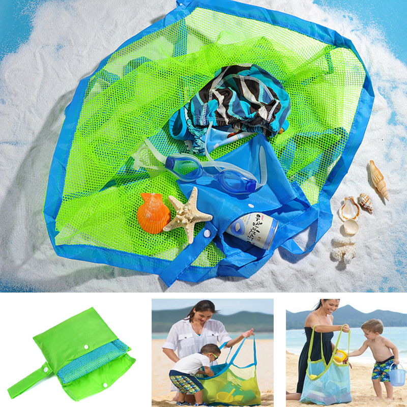 Outdoor Kids Baby Carry Beach Toys Sand Away Beach Bag Pouch Tote Mesh Children Storage Toy Collection Beach GameTools Sand 033