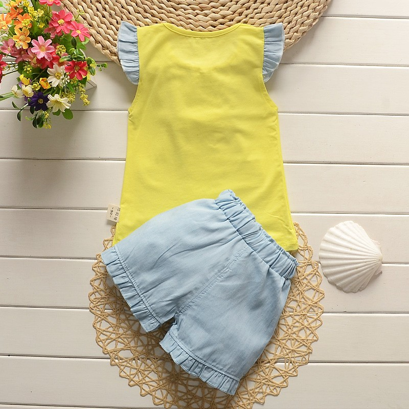 2016-new-fashion-baby-girls-summer-clothing-sets-kids-outfits-suit-children-flower-bow-T-shirt (4)