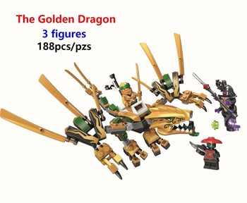 2019 Ninja The Golden Dragon Building Blocks Model Bricks Compatible with Legolying 70666 Ninjagoe Educational toys Best Gift - Category 🛒 Toys & Hobbies