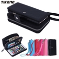 Luxury PU Leather Multifunction Removable Purse Zipper Wallet Case Card Cash Holder For iPhone 5 5S 6 6S 6Plus 6S Plus