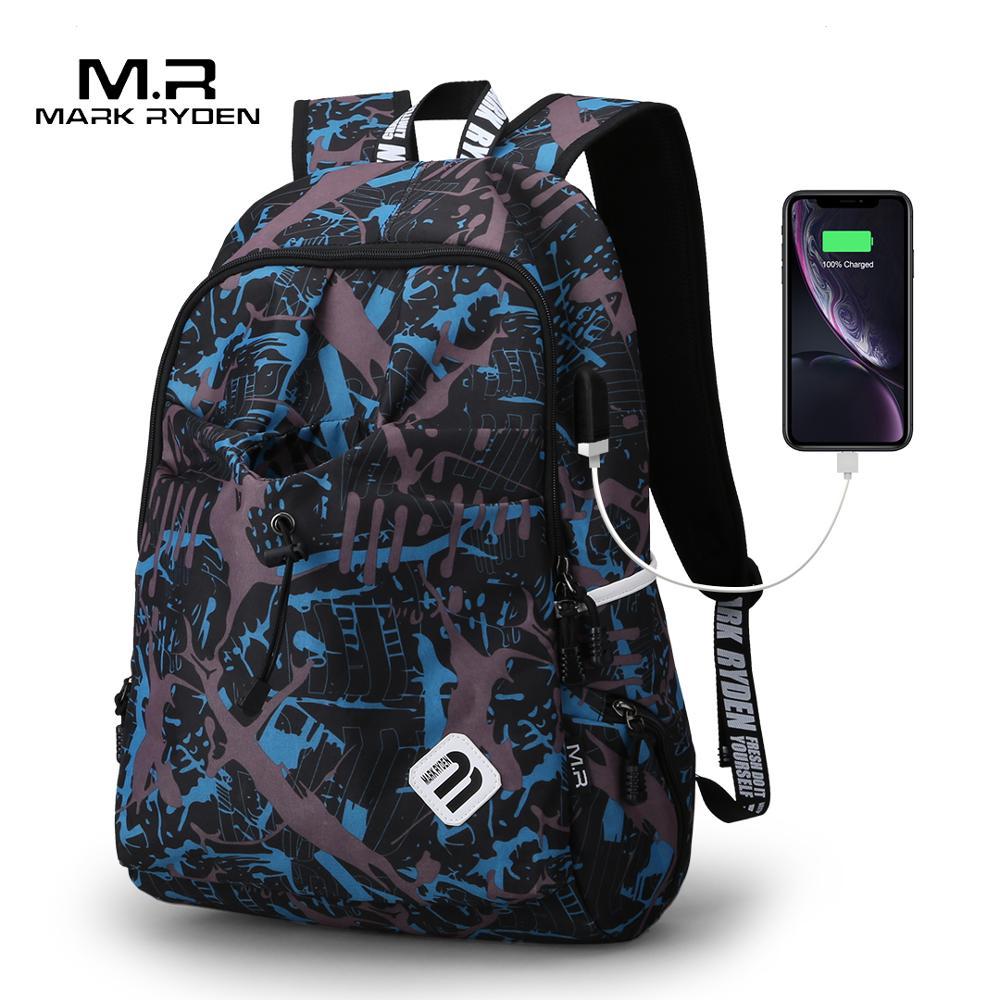 Nylon Backpack Mochila Laptop-Bag Mark Ryden Quality Brand Material Escolar Water-Repellen