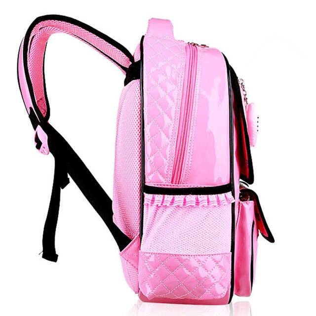 placeholder BAIJIAWEI PU Pupils School Bag Decompression Children s  Waterproof Backpack Girl Cute Multi-pocket Backpack Student 39f499607c8f1