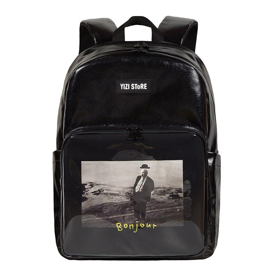 2019 nowy oryginalny wodoodporna o dużej pojemności torby szkolne drukowane podróży plecaki dla chłopców i dziewcząt w zdjęcia seria 2 (zabawy KIK) w Plecaki od Bagaże i torby na  Grupa 1