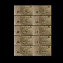Collection de billets en or Normal, 20 Lat, lot de 10 pièces