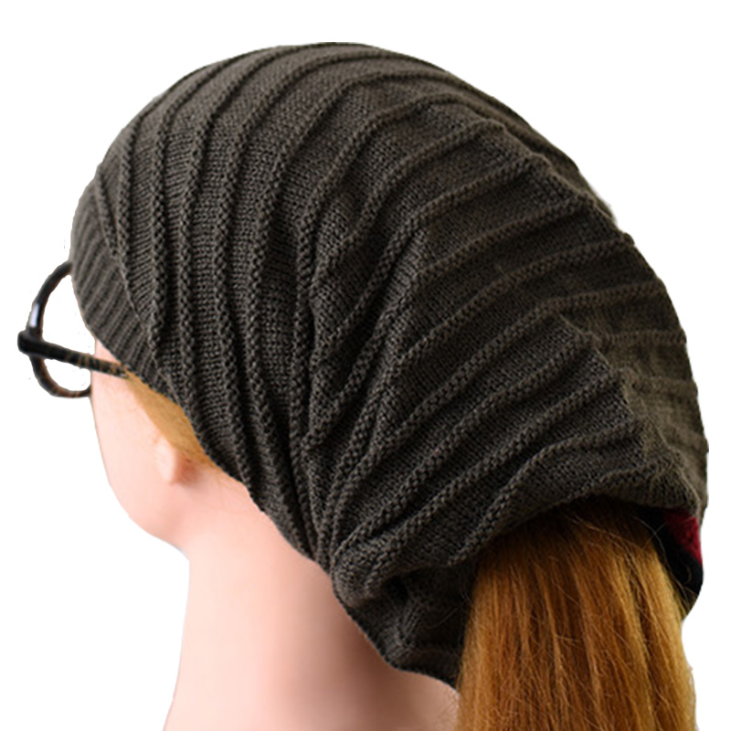 Casual Women's Winter Hat Knitted Wool Beanie Female Fashion Skullies 2017 New Autumn Bonnet Femme Cap Thick Warm Hats For Women knitted skullies cap the new winter all match thickened wool hat knitted cap children cap mz081