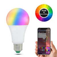20 modos regulables E27 RGB LED Bombilla inteligente 15W Bluetooth lámpara mágica RGBW RGBWW lámpara inteligente B22 Control de música aplicable a IOS/Android