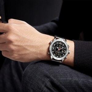 Image 4 - Luxury Brand NAVIFORCE Men Watch Analog Digital Watches Mens Stainless Steel Sport Waterproof Wristwatch Relogio Masculino 2020