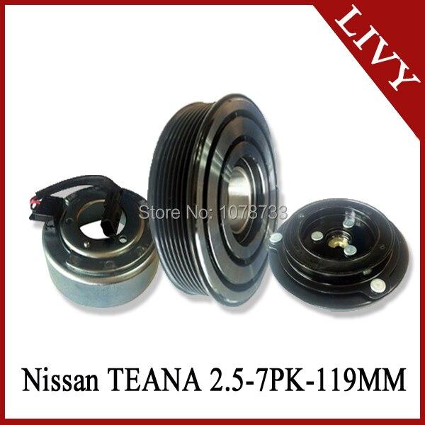 Магнитный Компрессор переменного тока клатч набор для Ниссан TEANA 2,5