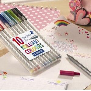 Image 5 - LifeMaster Staedtler Triplus Fineliner הרגיש טיפ ציור עט אמנות סמן 0.3mm רב צבע 334SB