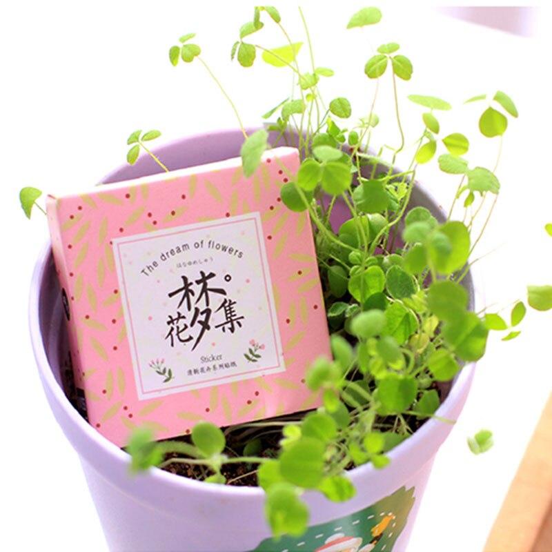 Купить с кэшбэком 40pcs/lot Flowers dream Creative baking paper sticker DIY decoration scrapbook label sealing Notebook sticker kawaii Stationery