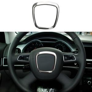 Aluminio dirección Centro de la rueda moldura de cubierta de marco para Audi A4 B7 B8 2006-2012 y A3 06-14 y A5 08-12 y A6 C6 07-11